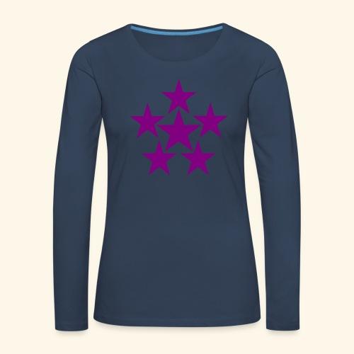5 STAR lilla - Frauen Premium Langarmshirt