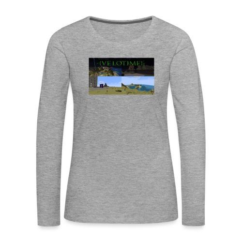 Velotime! - Långärmad premium-T-shirt dam