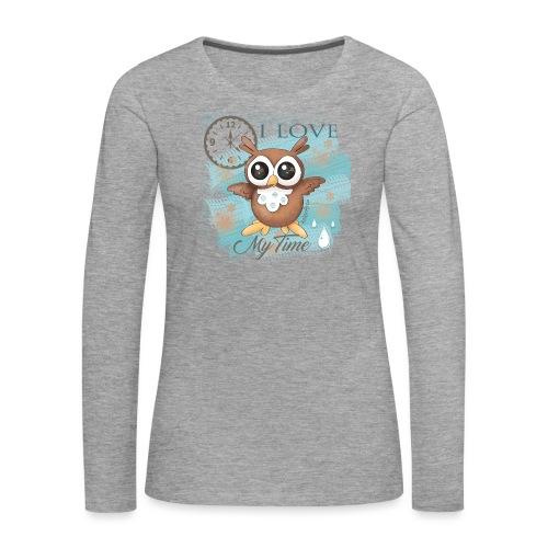 GUFO-E-TEMPO - Maglietta Premium a manica lunga da donna