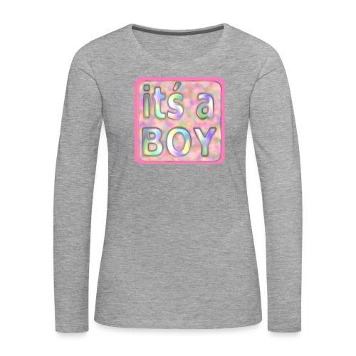 its a boy rosa text skylt - Women's Premium Longsleeve Shirt