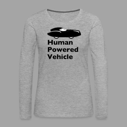 Quattrovelo Human Powered Vehicle black - Naisten premium pitkähihainen t-paita
