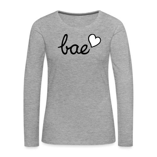 Bae & red heart - Women's Premium Longsleeve Shirt