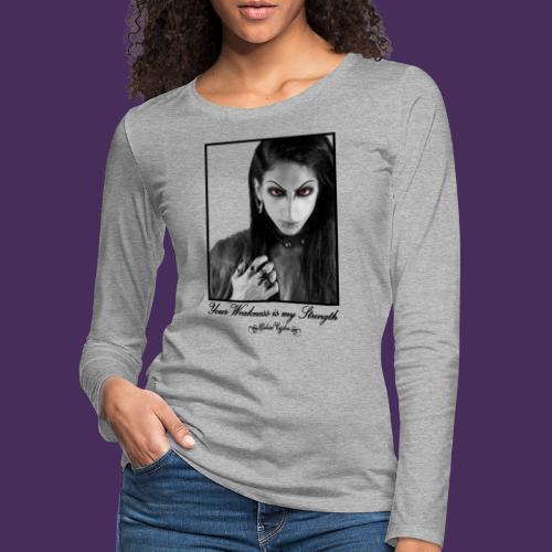 Modello 35 png - Women's Premium Longsleeve Shirt