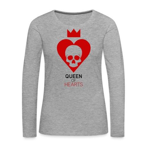 Tee shirt manches longues Reine des Coeurs - T-shirt manches longues Premium Femme