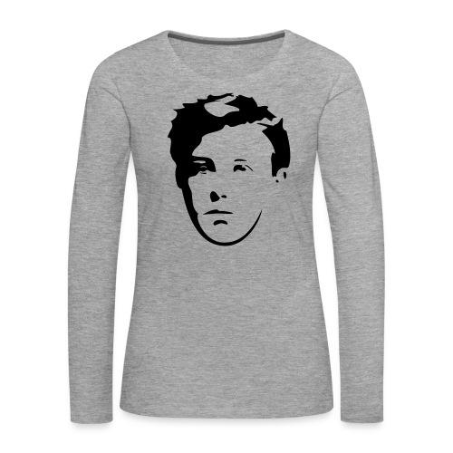 Arthur Rimbaud visage - T-shirt manches longues Premium Femme