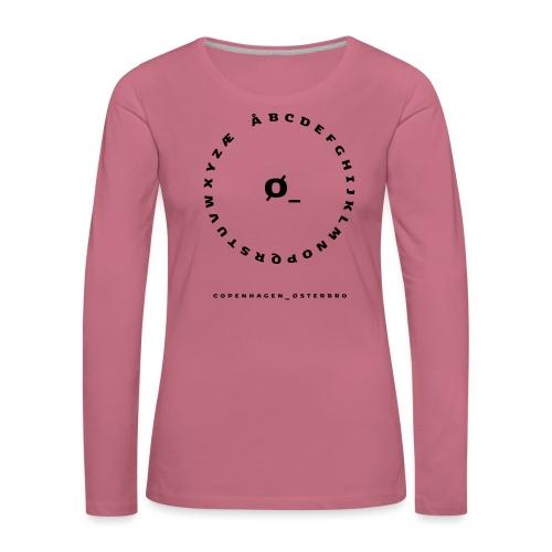 Østerbro - Dame premium T-shirt med lange ærmer