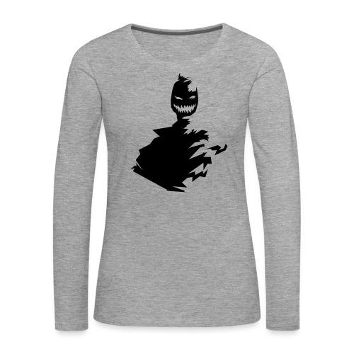 t shirt monster (black/schwarz) - Frauen Premium Langarmshirt