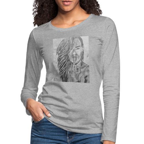 Jyrks_kunstdesign - Dame premium T-shirt med lange ærmer