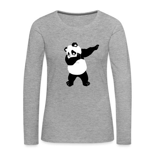 Dabbing Panda Bär - Frauen Premium Langarmshirt