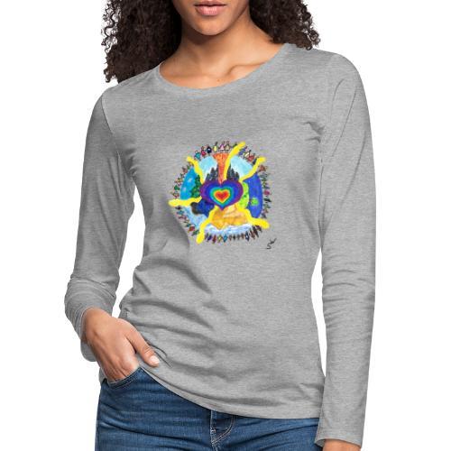 Herzwelt - Frauen Premium Langarmshirt