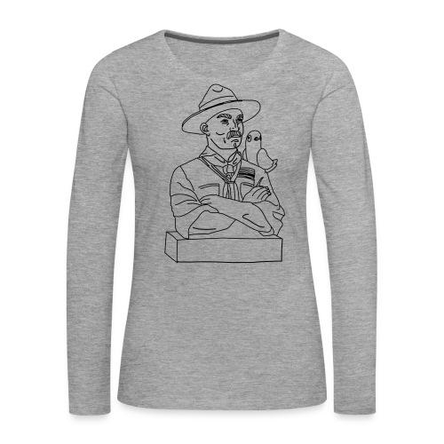 Pulu B-Pn olkapääl - Naisten premium pitkähihainen t-paita