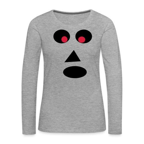 Ansigt - Dame premium T-shirt med lange ærmer