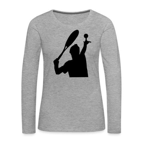 tennis silouhette 5 - T-shirt manches longues Premium Femme