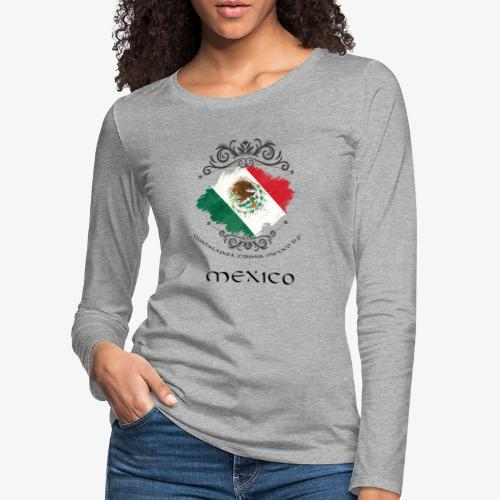 Mexico Vintage Bandera - Frauen Premium Langarmshirt
