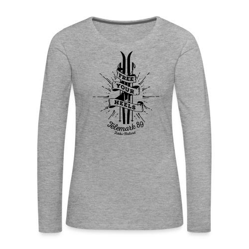 FreeYourHeels_merge - Naisten premium pitkähihainen t-paita
