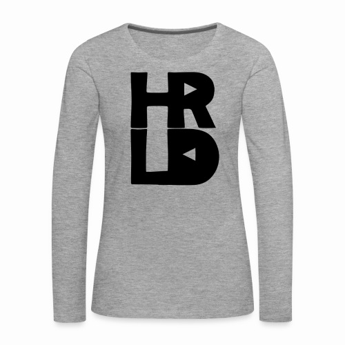 HRLD Black Logo - Naisten premium pitkähihainen t-paita
