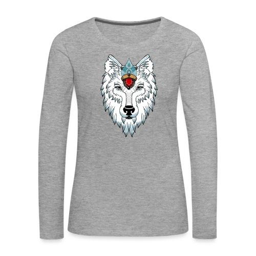 female wolf newschool - T-shirt manches longues Premium Femme