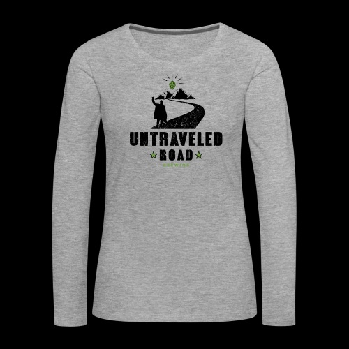 Untraveled Road Logo - black/small - Frauen Premium Langarmshirt