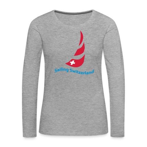 logo sailing switzerland - Frauen Premium Langarmshirt