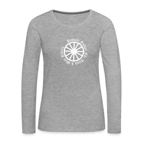 626878 2406639 lennyhjulromanifolketivit orig - Långärmad premium-T-shirt dam