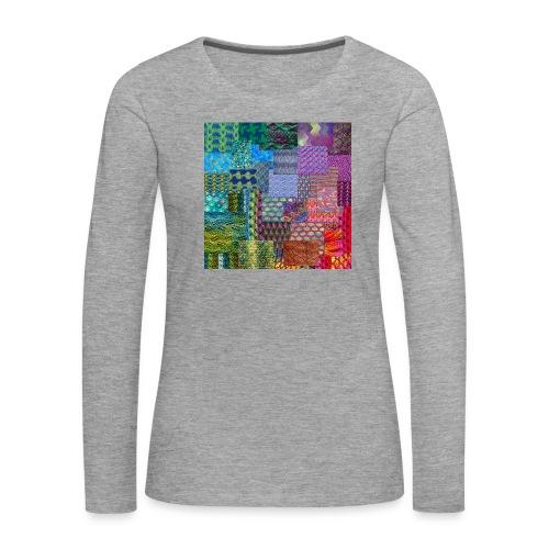 Knitting a rainbow - Långärmad premium-T-shirt dam