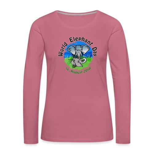 World Elephant Day 2018 - Frauen Premium Langarmshirt