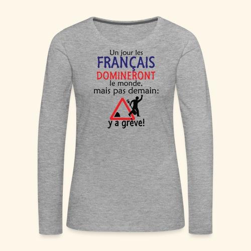 domination française - T-shirt manches longues Premium Femme
