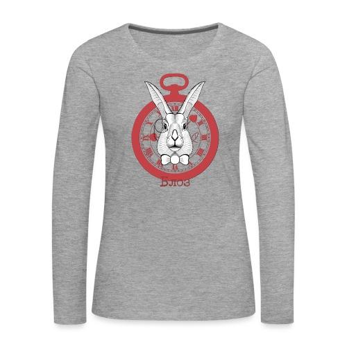 White rabbit - T-shirt manches longues Premium Femme