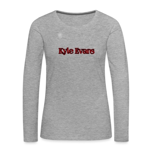 KYLE EVANS TEXT T-SHIRT - Women's Premium Longsleeve Shirt