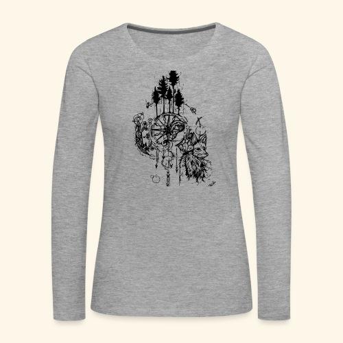 renard nature - T-shirt manches longues Premium Femme
