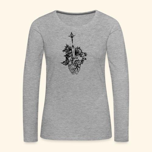 la nature du coeur - T-shirt manches longues Premium Femme