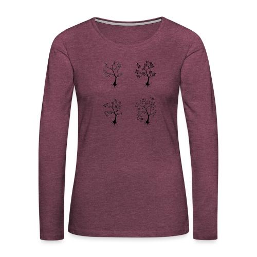 Vuodenajat - Naisten premium pitkähihainen t-paita