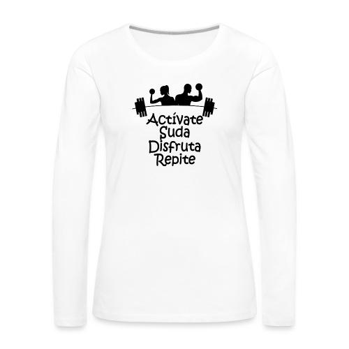 GYM - ACTÍVATE - Camiseta de manga larga premium mujer