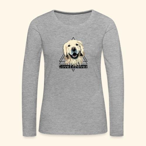 RETRIEVER LOVE FOREVER - Camiseta de manga larga premium mujer