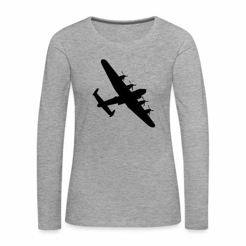Bomber Plane - Maglietta Premium a manica lunga da donna