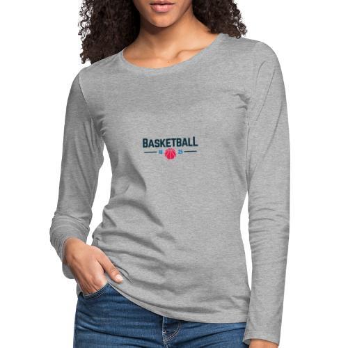 Basketball - Maglietta Premium a manica lunga da donna