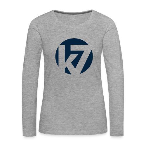K7 Minutter Logo 2012 transparent png - Premium langermet T-skjorte for kvinner