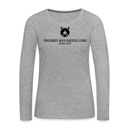 Nyloggatext1 - Långärmad premium-T-shirt dam