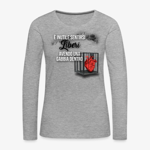 Rap Art ITA BRAND - Maglietta Premium a manica lunga da donna