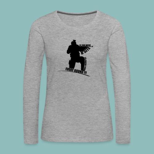 I'd rush you - Black Version - Frauen Premium Langarmshirt