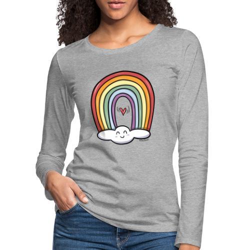 ARCOIRIS - Camiseta de manga larga premium mujer