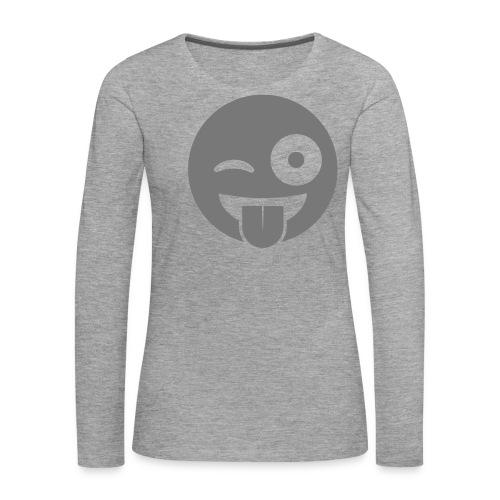 Emoji - Frauen Premium Langarmshirt