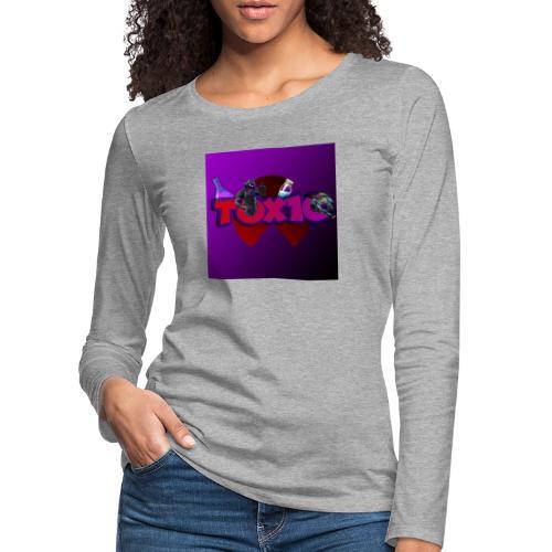 toxic paita - Naisten premium pitkähihainen t-paita