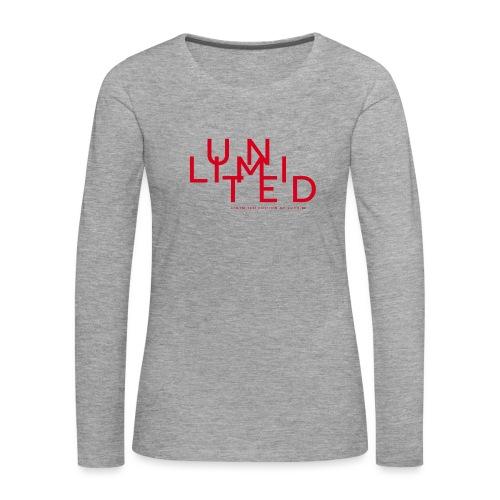 Unlimited red - Women's Premium Longsleeve Shirt