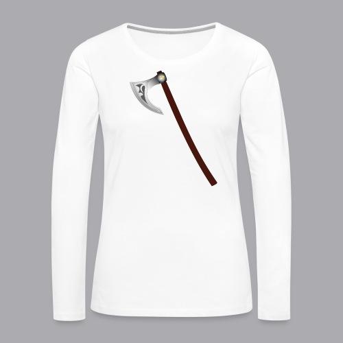 Wikinger Beil - Frauen Premium Langarmshirt