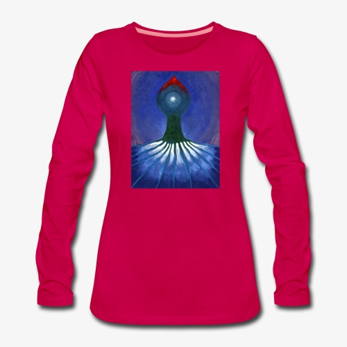 Drzewo Samotne - Koszulka damska Premium z długim rękawem