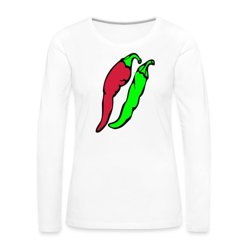 Chilli - Koszulka damska Premium z długim rękawem