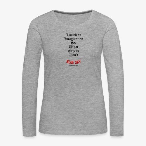 Limitless Imagination Zwart - Vrouwen Premium shirt met lange mouwen