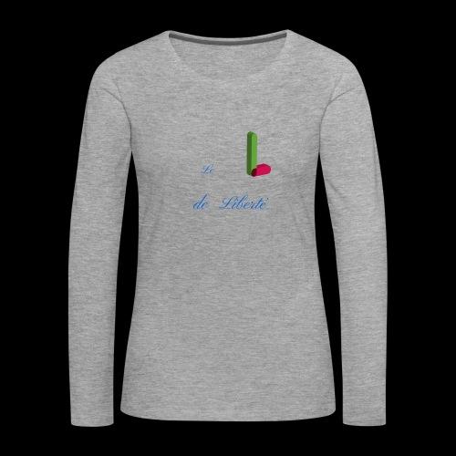 Alphabet - T-shirt manches longues Premium Femme