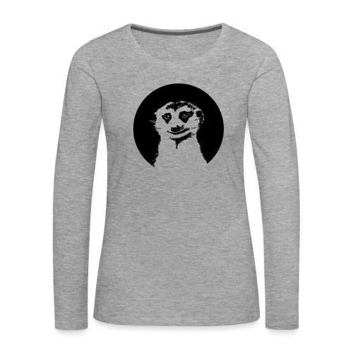 Stokstaartje groot rond - Vrouwen Premium shirt met lange mouwen